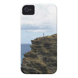 Solitary Figure on a Cliff iPhone 4 Case-Mate Case