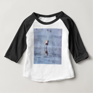 Solitary Flamingo Watercolor Baby T-Shirt