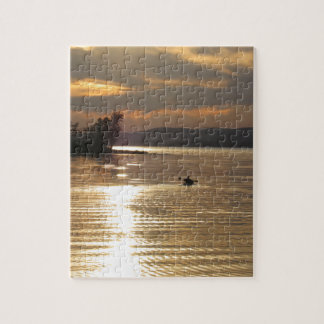 Solitary Kayak on the lake Jigsaw Puzzle