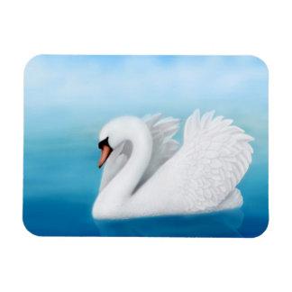 Solitary Mute Swan Premium Magnet