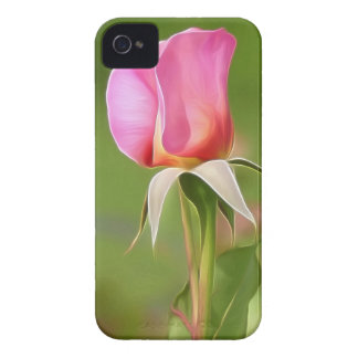 Solitary pink rose bud Case-Mate iPhone 4 case