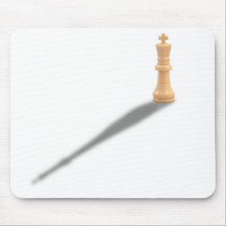 Solitary Whiite King Mouse Pad