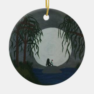 Solitude Art Print Ceramic Ornament
