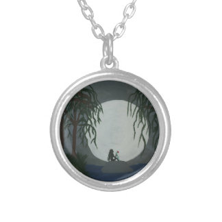 Solitude Art Print Silver Plated Necklace