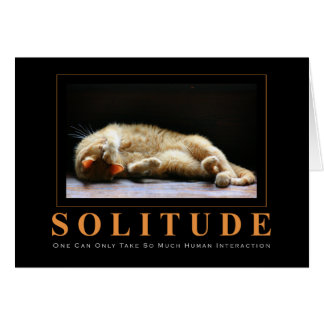 SOLITUDE Cat Photography Anti-Motivational Greeting Card