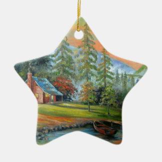 Solitude Ceramic Ornament