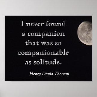 Solitude Quote - Henry David Thoreau - print