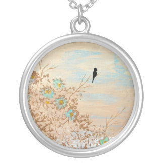 Solitude Round Necklace From Original Painting