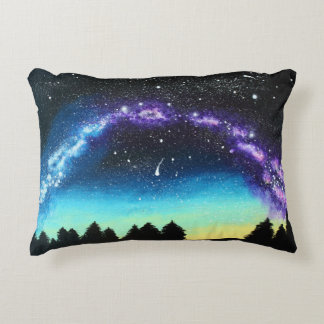 Solitude Under the Milky Way - Decorative Pillow