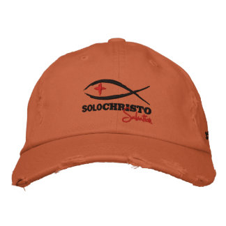"""Solo Christo """"Salvation Series""""  Embroidered Cap"""