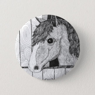 Solo Horse Art 6 Cm Round Badge