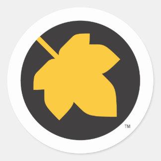 Solo leaf classic round sticker