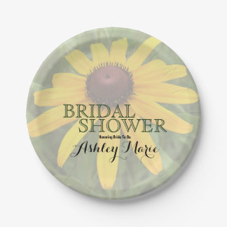 Solo Rudbeckia Close-Up Photograph | Bridal Shower Paper Plate