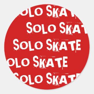 SOLO SKATE, SOLO SKATE, SOLO SKATE, SOLO SKATE,... ROUND STICKER