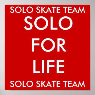 SOLO SKATE TEAM, SOLO SKATE TEAM, SOLO FOR LIFE PRINT