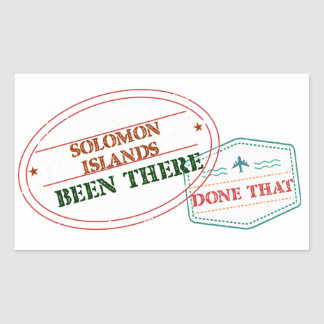 Solomon Islands Been There Done That Rectangular Sticker