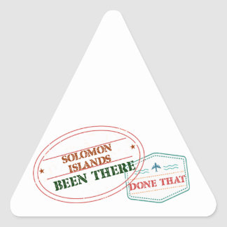 Solomon Islands Been There Done That Triangle Sticker
