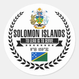 Solomon Islands Classic Round Sticker