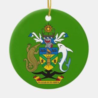 Solomon Islands Crest Christmas Ornament