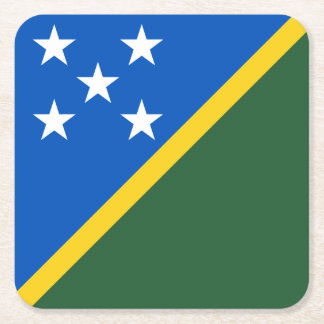 Solomon Islands Flag Square Paper Coaster