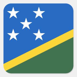 Solomon Islands Flag Square Sticker