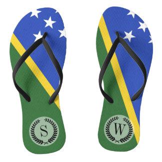 Solomon Islands flag Thongs