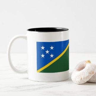 Solomon Islands Flag Two-Tone Coffee Mug