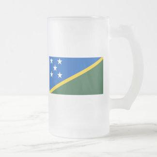 solomon islands frosted glass mug