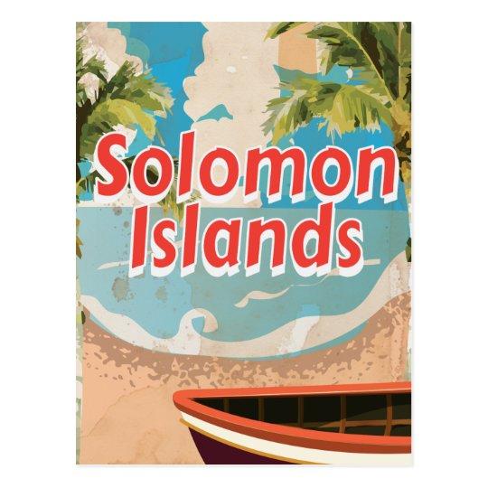 Solomon Islands Vintage vacation Poster Postcard