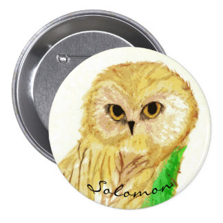 Solomon the Wise Owl From the Sara Books 7.5 Cm Round Badge
