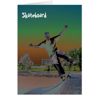 Solorized skateboarder  card