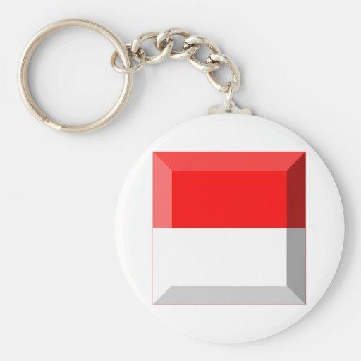 Solothurn Flag Gem Keychain