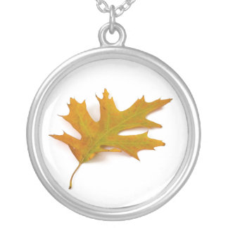 Soltary Red Oak Leaf Necklace