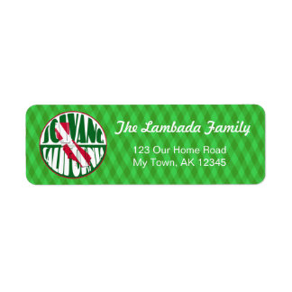 Solvang California, Danish Flag, Address Labels