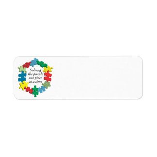 Solving the Puzzle...White Return Address Labels