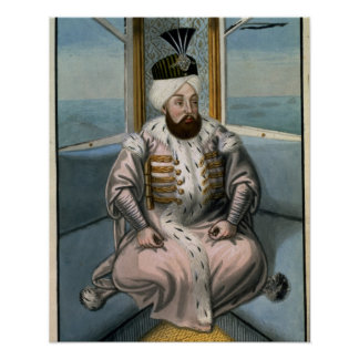 Solyman II (1642-91) Sultan 1687-91, from 'A Serie Poster