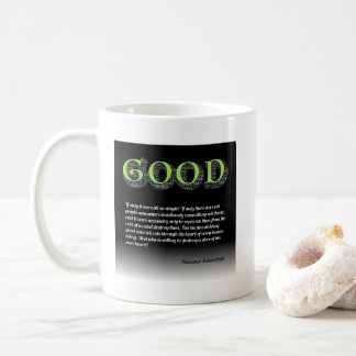Solzhenitsyn Line Between Good and Evil Quote Coffee Mug