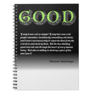 Solzhenitsyn Line Between Good and Evil Quote Notebooks