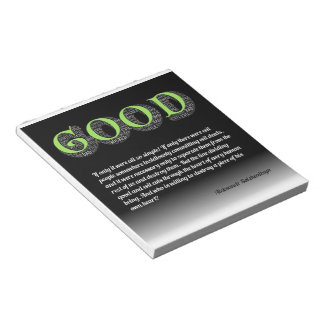 Solzhenitsyn Line Between Good and Evil Quote Notepad