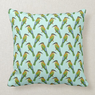Somali Bee-eater Vintage Bird Pattern Cushion