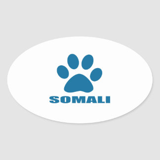 SOMALI CAT DESIGNS OVAL STICKER