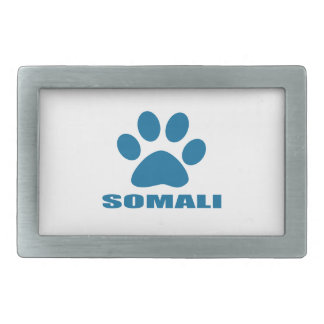 SOMALI CAT DESIGNS RECTANGULAR BELT BUCKLE