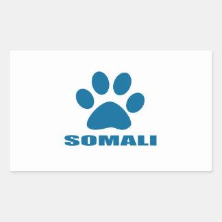 SOMALI CAT DESIGNS RECTANGULAR STICKER