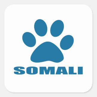 SOMALI CAT DESIGNS SQUARE STICKER