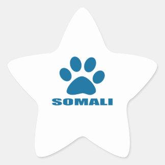 SOMALI CAT DESIGNS STAR STICKER