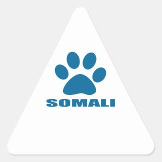 SOMALI CAT DESIGNS TRIANGLE STICKER