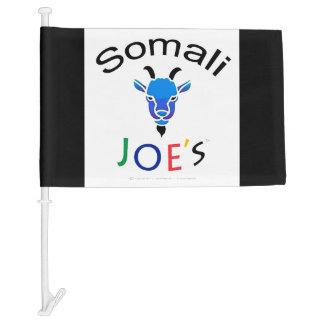 Somali Joe's Blue Goat Custom Car Flag