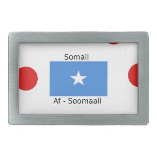 Somali Language And Somalia Flag Design Belt Buckle