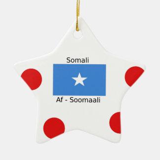 Somali Language And Somalia Flag Design Ceramic Ornament