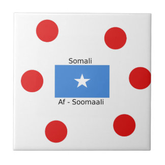 Somali Language And Somalia Flag Design Ceramic Tile